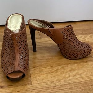 Vince Camuto perforated leather heels